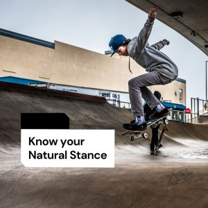 learn skateboard by knowing natural stance